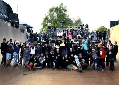 HANG UP 2016: Det foreløpig siste store skateboardarrangementet i skateparken i Horten