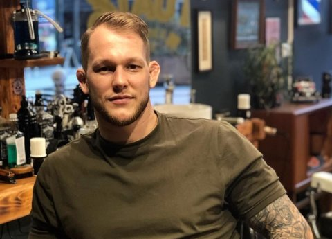 SELVTILLIT: Marthin Hamlet er stinn av trening og selvtillit foran årets MMA-sesong.