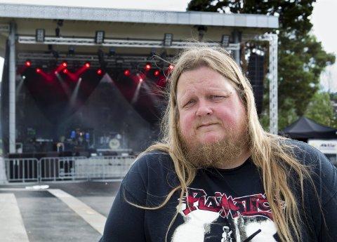 MUSIKKBYEN: Stian Fossum synes det er gledelig at flere større band nå tar kontakt og vil spille i Kongsvinger.