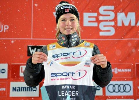 Maren Lundbys andre hopp gjorde susen, og hun klatret til topps etter en fjerdeplass i første omgang.
