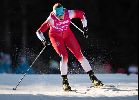IMPONERTE: Anna Heggen fra Svea imponerte i juniorklassen på Natrudstilen. Dette bildet er fra OL-løypene i Lausanne i januar i år.