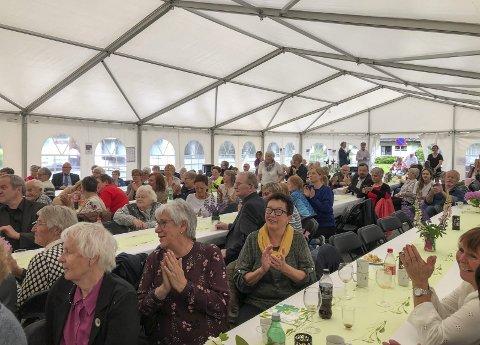 Heile 170 gjester var venta til den store jubileumsfesten for Bråvolltunet.