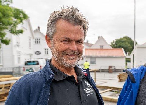 FORNØYD: Leder i Skudeneshavn Næringsforening, Ståle Landaas.