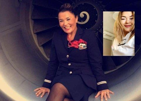 STOLT AV JOBBEN: Randi Time er stolt kabinsjef i Norwegian og er samtidig glad for at hun har sykepleierutdanning i bakhånd og fremdeles praktiserer i dette yrket utenom.