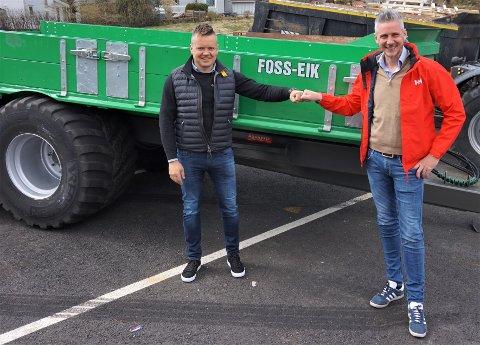 Eier og daglig leder i Foss-Eik, Einar Bilstad og daglig leder i CEG ser frem til å starte samarbeidet.