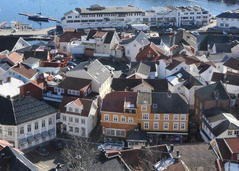 Kragerø sentrum sett fra Steinmann