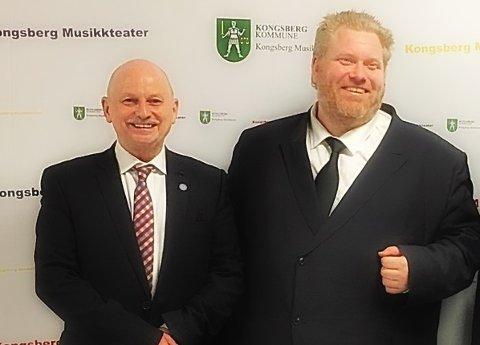 KOLLEGER: Partikollegene Roger Ryberg og Bjørn Tore Ødegården (Ap) får sentrale verv når Viken fylkesting konstitueres torsdag.