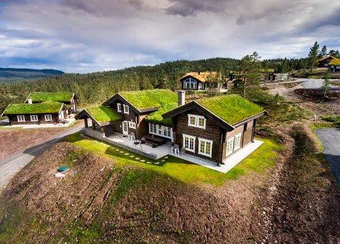 Denne hytta i Blestølen hyttegrend gikk nylig 300.000 over prisantydning, og endte på 7,2 millioner kroner.