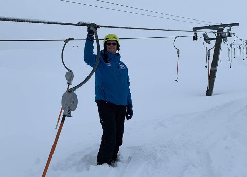 GLAD: Skisenteret traff perfekt med timingen.