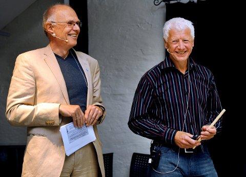 SPLITTES: Ordfører i Gjøvik Bjørn Iddberg. Her sammen med Hamar-ordfører Einar Busterud. Senterpartiet vil fremme forslag om å oppheve Region Innlandet. Arkivbilde