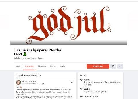 """LOT SEG INSPIRERE: Fire unge kvinner lot seg inspirere av """"Julenissens hjelpere i Søndre Land"""" og laget en tilsvarende Facebookgruppe for Nordre Land."""