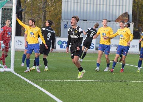 OPPGITT: Teodor Berg Haltvik og Raufoss fikk lite til å stemme i lørdagens kamp mot Grorud.