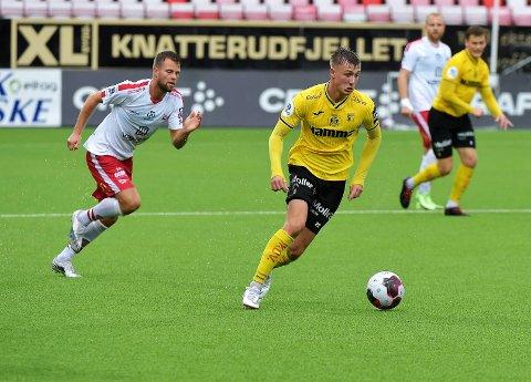 KJEMPET GODT: Markus Karlsbakk og Raufoss kjempet veldig godt mot Fredrikstad og fikk med seg ett poeng hjem til Toten.