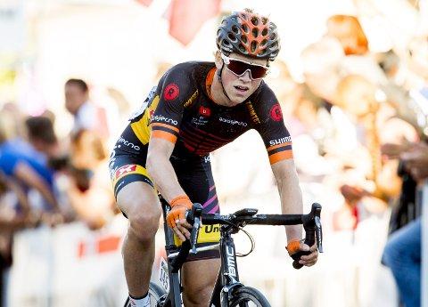 Stor prestasjon: Carl Fredrik Hagen vant klatretrøya sammenlagt i etapperittet Tour de Bretagne. FOTO: Vegard Wivestad Grøtt / NTB scanpix