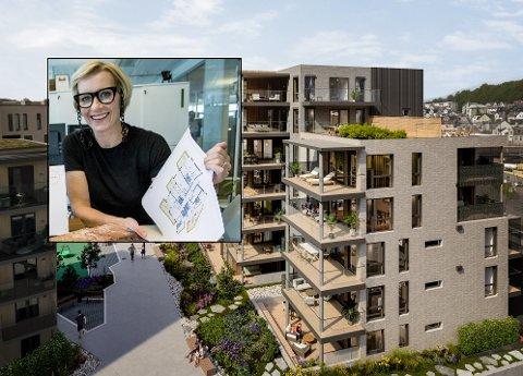 SOLGT FOR 80 millioner: Hedda Johannessen kan fortelle at man i juni har solgt leiligheter i det siste byggetrinnet på Sanden for 80 millioner kroner.