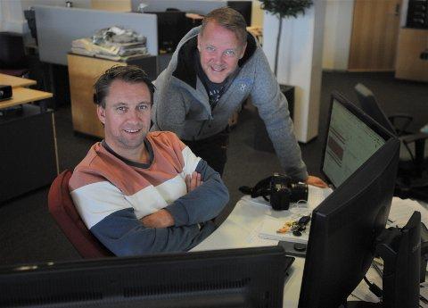 VI SENDER BIRKEN: Nyhetsredaktør i Østlendingen, Jan Morten Frengstad (t.v.) er programleder for vår Birken-sending, mens Tor Bergebakken er ansvarlig for produksjonen.