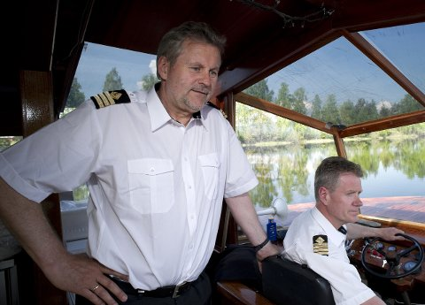 Jubileum: Ragnar Braata og Harald Gårdvik har hatt 686 turer med Dronning Tyra.
