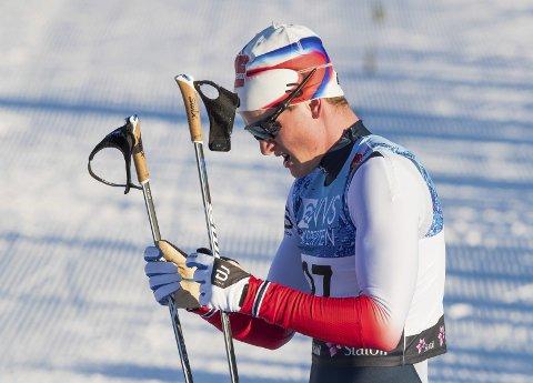 39. PLASS: Eirik Sverdrup Augdal gikk seg opp mot slutten, og endte på en 39. plass i verdenscuprennet på Beitostølen.