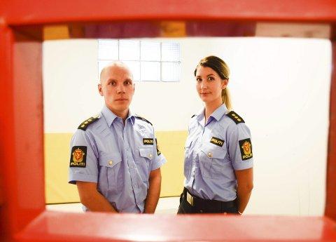 Hovedtillitsvalgt for Politiets Fellesforbund i Nordre Buskerud, Verner Svendsen, og tillitsvalgt i Fellesforbundet, Anette Brandlistuen.