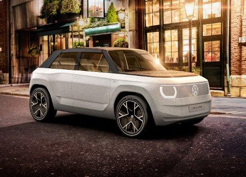 BYBIL: Volkswagen ID. Life har en batteripakke på 57 kWt. Rekkevidden anslås til 40 mil. Foto: Produsenten