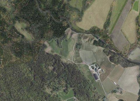DEPONI: Det er i dette området innerst i Trolsrudveien at det nå er spilt inn forslag om deponi for overskuddsmasser.