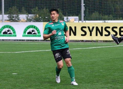 FEM PÅ RAD: Trond Vegard Ripe og Kaupanger har vunne fem strake kampar i 4. divisjon.