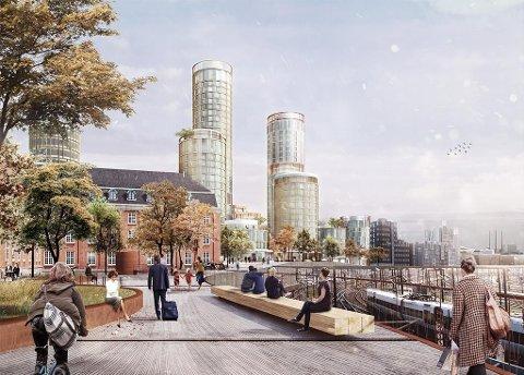 Området er på 30.000 kvadratmeter og ligger ved ved Københavns Hovedbanegård. Lundgaard og Tranberg Arkitekter er arkitekter for utviklingsprosjektet.
