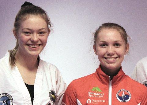 TATT UT: Aurora Dønheim Berle og Una Langeland Gravvold er tatt ut i den norske troppen som skal delta i EM i taekwondo i Slovakia i månedsskiftet april og mai.