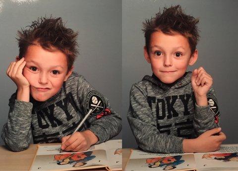 DRAR TIL DANMARK: Olav (6) synes skolen er kjedelig. Men læring er gøy!