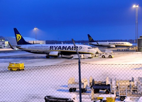 IKKE I DAG: På Torp.no er det satt opp en Ryanair-avgang klokken 16.30, som så er kansellert. Bare at Ryanair ikke flyr til Las Palmas på torsdager. Det betyr at flyet som ikke skulle gå er kansellert.