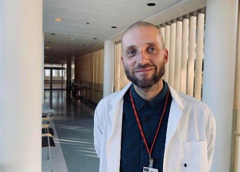 NY JOBB: Andreas Aas Thorud har startet i nyopprettet stilling som sykehusfilosof.