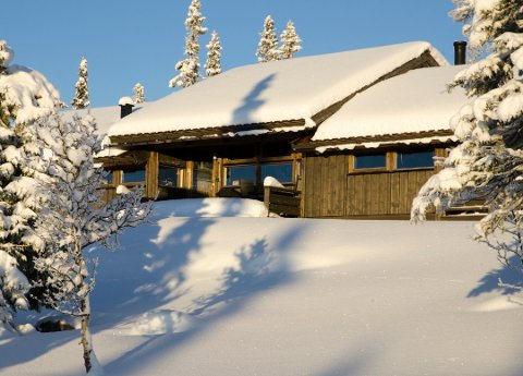 EIENDOMSSALG: Ei hytte i Svarttjernvegen på Hedalsfjellet ble solgt for 4,17 millioner kroner i november.
