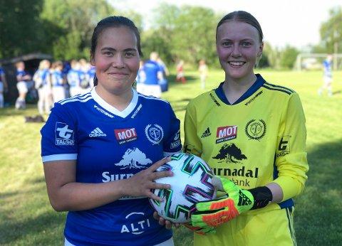 I GANG: For første gang på mange måneder kunne Agnes Vikavoll, Astrid Dammen Gjeldnes og de andre spillerne på Surnadal og Sunndal spille fotballkamp igjen.
