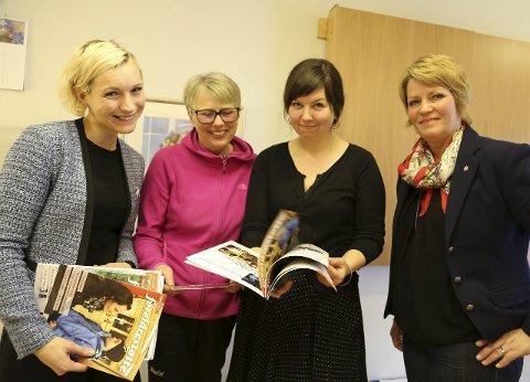 Ny jobb: Lena Holmstrøm kvinnen i svart i midten har sikret seg ny jobb i kommunen. Nå skal hun sørge for at Fauskeværingene fpr kontroll på egen helse.