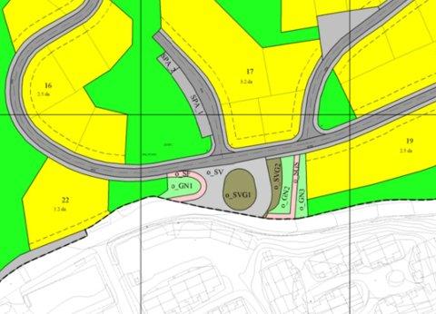 Flere forandringer: Figuren viser forslag til endringer i plankartet for det aktuelle området, med tilhørende boligfelt.