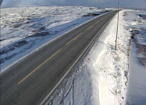 Slik så det ut på Saltfjellet mandag formiddag.