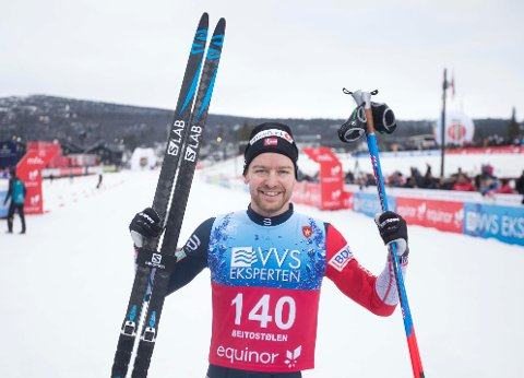 Sjur Røthe vant under 15 km fri teknikk menn på Beitostølen. Foto: Terje Pedersen / NTB Scanpix