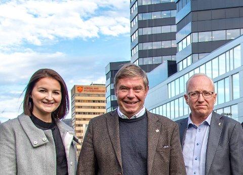 Marte Monstad, Tor Woldseth og Gjermund Hagesæter.