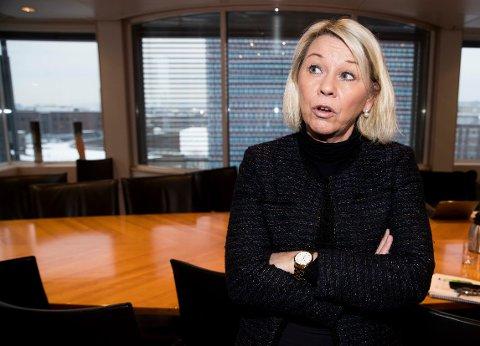 Kommunal- og moderniseringsminister Monica Mæland (H) frykter ikke oppstartsproblemer i 43 nye kommuner og seks nye fylker på nyåret. (Foto: Terje Pedersen / NTB scanpix)