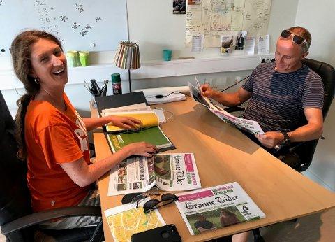 ENDEN AV STORGATA: Ida Julsen og Erik Skauen (begge i MDG) satser på eget, bemannet, kontor til valgkampen.