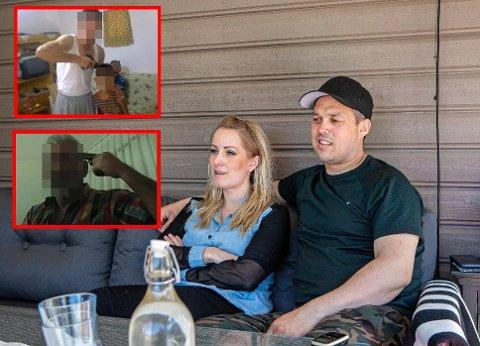 – Jeg vet så inderlig godt at jeg ikke skal gi fra meg verken passord eller brukernavn – men nå serverte jeg hackerne alt på et sølvfat, sier Maria Mohn (37) som på bildet sitter sammen med ektemannen Ole-Henrik Mohn Pettersen (40).