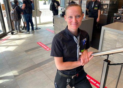 I GANG: Daglig leder Lene Halvorsen-Myhre er tilfreds med besøket de første dagene etter åpning.