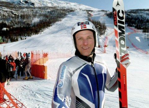 NM-VINNER: Slik så det ut da Aksel Lund Svindal vant sin første NM-medalje i Fagernesfjellet i 2006. Nå skal han være med på å gjøre det til en VM-bakke. Foto: Per-Helge Berg.
