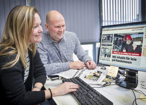 Satser digitalt: Konstituert nettleder Martha-Lill Nordby Hansen og Thor Sørum-Johansen.