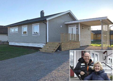 OMFATTEDE PROSJEKT: Ordfører Wenche Huser Sund og mannen Øyvind Hammer har det siste året pusset opp denne boligen fra bunnen av. Huset måtte strippes inn til reisverket.