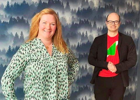 KLARE TIL VALGKAMP: Anne Lise Fredlund og Hans Olav Lahlum er SVs to fremste politikere i kampen om en stortingsplass fra Oppland.