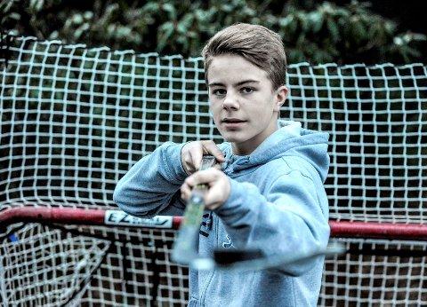 DEBUT: Sondre Ahlsen fra Halden spilte torsdag for Norge U16, som tapte 3-5 for Latvia i en treningskamp.