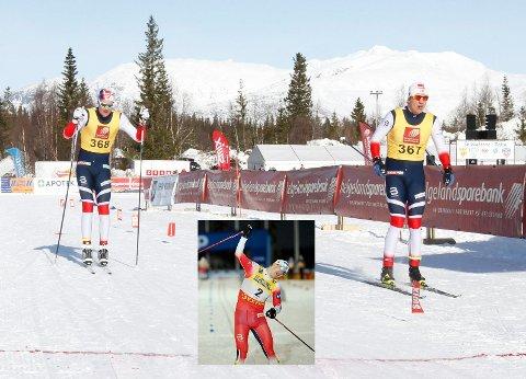 6. PLASS: Første dag i NNM på Sjåmoen i 2018. Erik Valnes (367) over målstreken slått av Torgeir Sulen Hovland (368) med nesten et halvt minutt. I dag knuste han Klæbo.