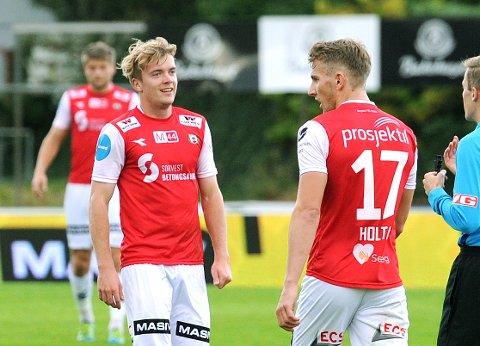 BRYNES BESTE: Andreas Dybevik (t.v.) og Joacim Holtan skiller seg ut både på Jærbladets og lesernes spillerbørs.