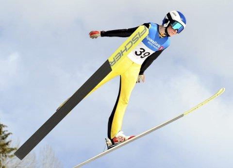 LOVENDE: Jonas Pettersen har oppnådd bra resultater i hoppbakken i vinter. Foto: Svein Halvor Moe